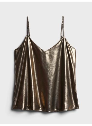 Banana Republic Metalik Askılı Bluz Altın